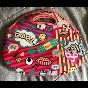 BYO Rambler Neoprene Lunch Bag Handbag Clutch EUC